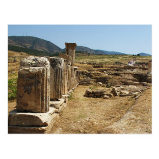 Roman Ruins at Hierapolis Pamukkale  Turkey Postcard