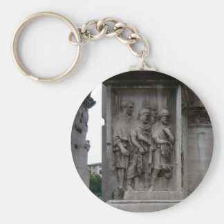 Roman Ruins Entrance in Rome Italy Basic Round Button Keychain
