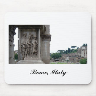 Roman Ruins Entrance in Rome Italy Mouse Pads