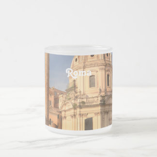 Roman Ruins Frosted Glass Coffee Mug