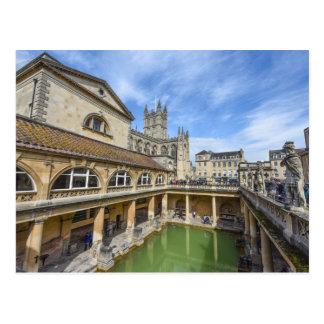 Roman Ruins in Bath England Postcard