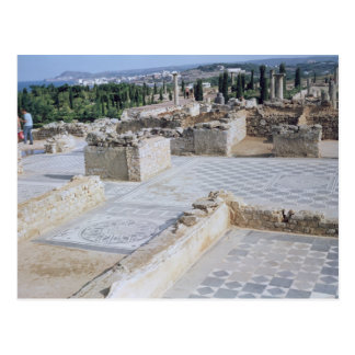 Roman ruins of the port of Emporion Postcard