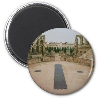 Roman ruins Tunisia 2 Inch Round Magnet
