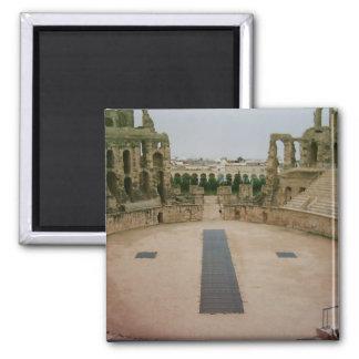 Roman ruins Tunisia 2 Inch Square Magnet