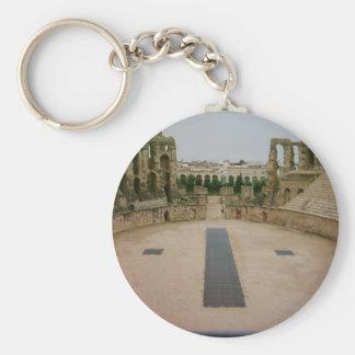 Roman ruins Tunisia Basic Round Button Keychain