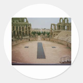 Roman ruins Tunisia Classic Round Sticker