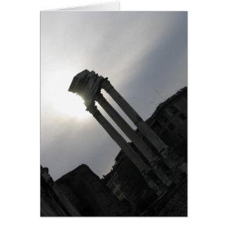 Roman Ruins Vertical Note Card