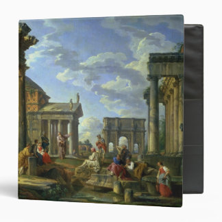 Roman Ruins with a Prophet, 1751 3 Ring Binder