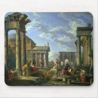 Roman Ruins with a Prophet, 1751 Mouse Pad