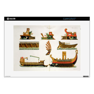 "Roman Ships with details of figureheads, plate 23, Decals For 15"" Laptops"