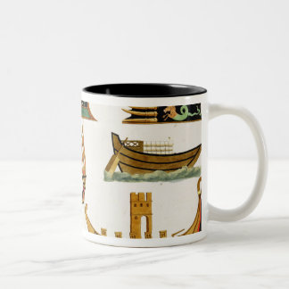 Roman Ships with details of figureheads, plate 23, Coffee Mugs
