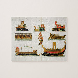 Roman Ships with details of figureheads, plate 23, Jigsaw Puzzle