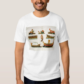 Roman Ships with details of figureheads, plate 23, Tee Shirt
