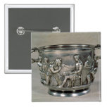 Roman silver-gilt drinking cup button