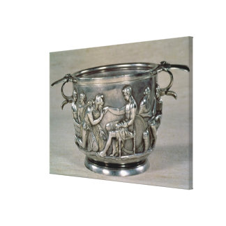 Roman silver-gilt drinking cup canvas print