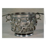 Roman silver-gilt drinking cup card