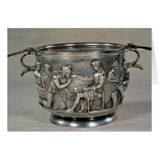 Roman silver-gilt drinking cup card