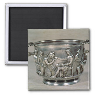 Roman silver-gilt drinking cup 2 inch square magnet