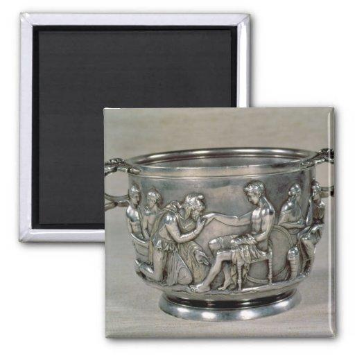 Roman silver-gilt drinking cup refrigerator magnet
