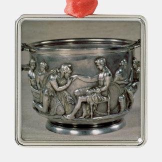 Roman silver-gilt drinking cup metal ornament