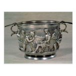 Roman silver-gilt drinking cup postcard