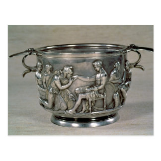 Roman silver-gilt drinking cup postcard