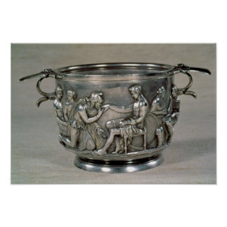Roman silver-gilt drinking cup poster