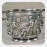 Roman silver-gilt drinking cup square sticker