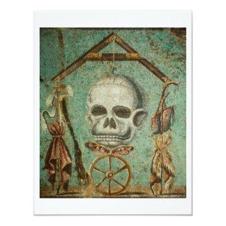 Roman skull mosaic invitation by S. Ambrose