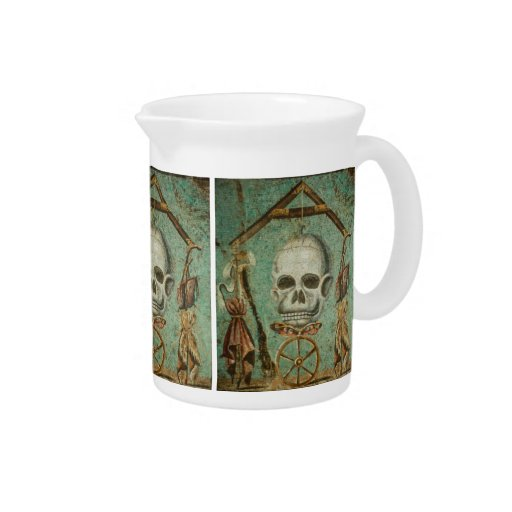 Roman skull mosaic jug by S. Ambrose Pitchers