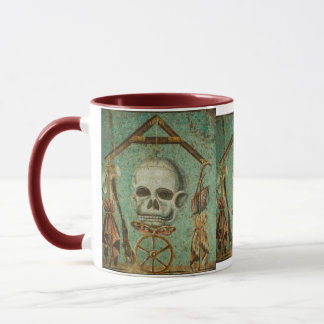 Roman skull mosaic mug by S. Ambrose