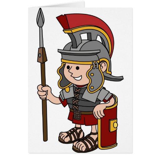 Roman Soldier Greeting Card