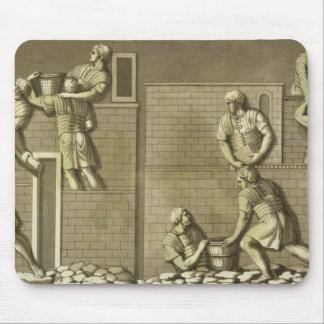 Roman soldiers building a fort, plate 21 from 'Le Mouse Pad