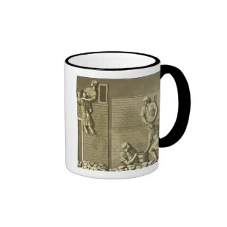 Roman soldiers building a fort, plate 21 from 'Le Coffee Mug