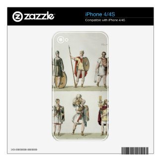 Roman Soldiers, detail from plate 2, class 5 of Pa Decal For iPhone 4