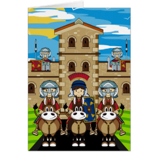 Roman Soldiers Guarding Tower Outpost Card