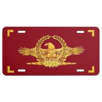 Roman SPQR Eagle Vexilla License Plate