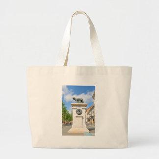 Roman statue large tote bag