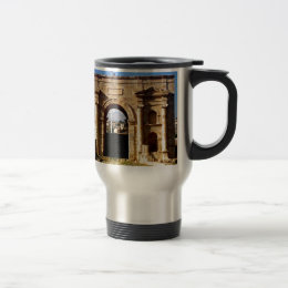 Roman Structure Front Travel Mug