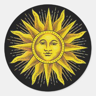 Roman Sun Classic Round Sticker