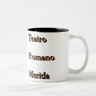 Roman theater Two-Tone coffee mug