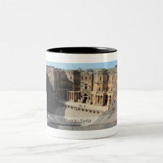 Roman theater stage Bosra, Syria Two-Tone Coffee Mug