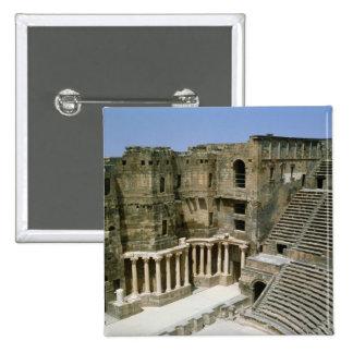 Roman theatre at Bosra , Syria Button