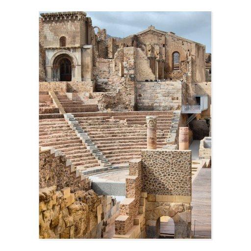 Roman Theatre Cartagena Spain Postcard
