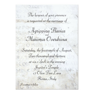50 Off Ancient Roman Invitations Limited Time Only Zazzle