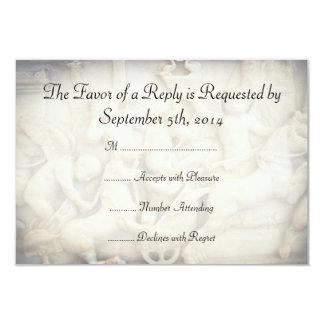 Roman Themed Wedding RSVP Card
