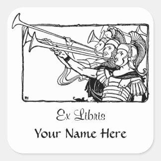 Roman Trumpeters Square Sticker