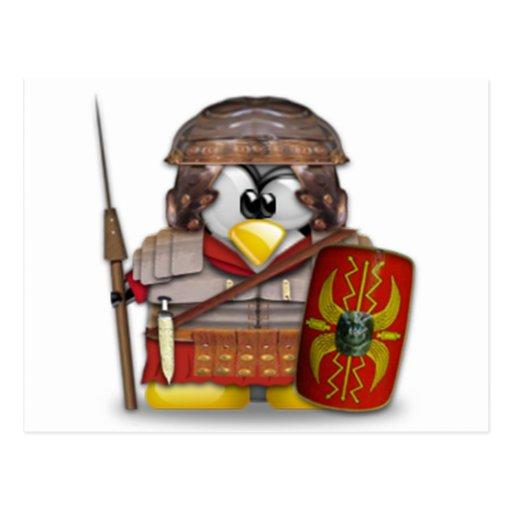 Roman Tux Postcard