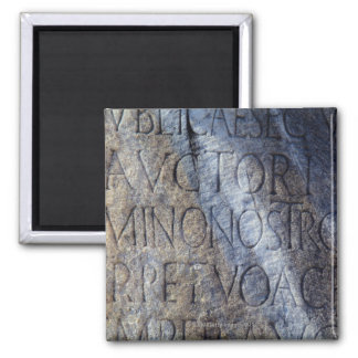 Roman typography at the Forum, Rome, Italy 2 Inch Square Magnet