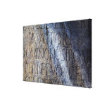 Roman typography at the Forum, Rome, Italy Gallery Wrap Canvas